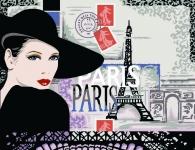 Margot de Paris Tapestry/Needlepoint - Mademoiselle in Paris