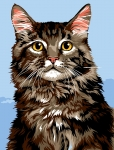 Margot de Paris Tapestry/Needlepoint - Main Coon Cat