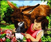 Margot de Paris Tapestry/Needlepoint - My Friend the Donkey