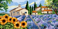 Margot de Paris Tapestry/Needlepoint - Provencal Village