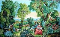 Margot de Paris Tapestry/Needlepoint - Romance in the Greenery