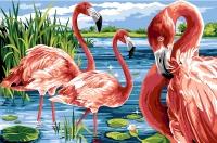 Margot de Paris Tapestry/Needlepoint - The Flamingo Island