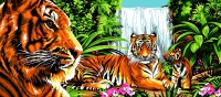Margot de Paris Tapestry/Needlepoint – Tigers in the Jungle