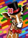 Margot de Paris Tapestry/Needlepoint – Top Hat Giraffe