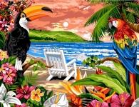 Margot de Paris Tapestry/Needlepoint - Tropical Beach