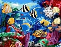 Margot de Paris Tapestry/Needlepoint - Tropical Fish