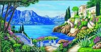 Margot de Paris Tapestry/Needlepoint - Villas on the Lakeside