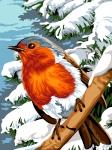 Margot de Paris Tapestry/Needlepoint – Winter Feathers (Plume D'hiver).
