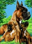 Margot de Paris Tapestry/Needlepoint Canvas – Boxer Family
