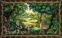 Margot de Paris Tapestry/Needlepoint Canvas - Ducks in the Greenery (Verdure aux canards)