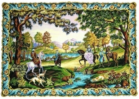 Margot de Paris Tapestry/Needlepoint Canvas – Hunting Scene