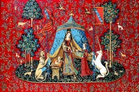 Margot de Paris Tapestry/Needlepoint Canvas - Lady with Unicorn
