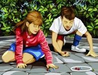 Margot de Paris Tapestry/Needlepoint - Marble games