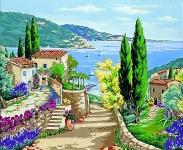 Margot de Paris Tapestry/Needlepoint Canvas – Mediterranean View