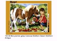 Margot de Paris Tapestry/Needlepoint Canvas - My first gallop