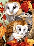 Margot de Paris Tapestry/Needlepoint Canvas – Owls on Watch (Veiller).