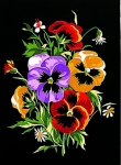 Margot de Paris Tapestry/Needlepoint Canvas – Pansies after Herrier