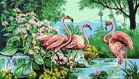 Margot de Paris Tapestry/Needlepoint Canvas – Pink Flamingos after Mireille