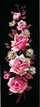 Margot de Paris Tapestry/Needlepoint – Roses on Black