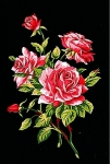 Margot de Paris Tapestry/Needlepoint Canvas – Stem of Pink Roses