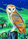 Margot de Paris Tapestry/Needlepoint Canvas – The Owl (La chouette)
