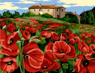 Margot de Paris Tapestry/Needlepoint Canvas – Tuscan Poppy Field