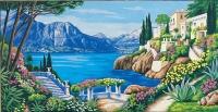 Margot de Paris Tapestry/Needlepoint Canvas - Villas on the Lakeside