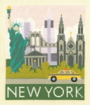 New York Cityscape- 14 count Counted Cross Stitch Kit