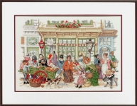 Pako Counted Cross Stitch Kit - Old Time Street Life