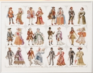 Pako Cross Stitch Sampler Kit - Historical Dress (From 1450 - 1909)