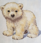 Polar Bear- Animal Magic 14 count Counted Cross Stitch Kit