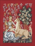 Princesse Counted Cross Stitch Kit – Lady and the Unicorn - Sight (La vue)