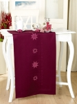 Rico Cross Stitch Tablecloth Kit 90 x 90cm Christmas Stars on Deep Red