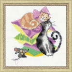 Riolis Counted Cross Stitch Kit - Cats and Mice