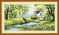 Riolis Counted Cross Stitch Kit - Corner of Paradise