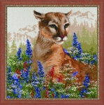 Riolis Counted Cross Stitch Kit - Cougar