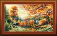 Riolis Counted Cross Stitch Kit - Crimson Autumn