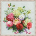 Riolis Counted Cross Stitch Kit - Dahlias