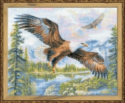 Riolis Counted Cross Stitch Kit - Free Fall (Eagle)