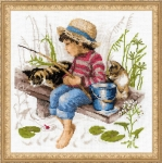 Riolis Counted Cross Stitch Kit - Let's Go Fishing
