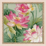 Riolis Counted Cross Stitch Kit - Lotuses