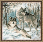 Riolis Counted Cross Stitch Kit - Pair of Wolves