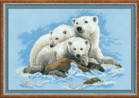 Riolis Counted Cross Stitch Kit - Polar Bears