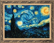 Riolis Counted Cross Stitch Kit - Starry Night by Van Gogh