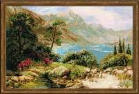 Riolis Counted Cross Stitch Kit - The Mountain Lake