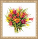 Riolis Counted Cross Stitch Kit - Tulips in a Vase