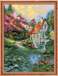 Riolis Counted Cross Stitch Kit - Water Mill