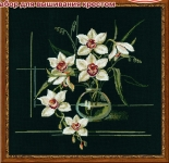 Riolis Counted Cross Stitch Kit - White Orchid