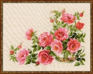 Riolis Premium Cross Stitch Kit - Sweet Flavor (Roses)