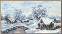 Riolis Premium Cross Stitch Kit - The Village in Winter
